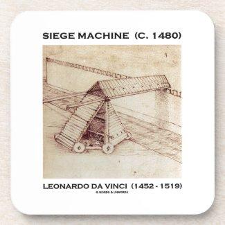 Siege Machine (Circa 1480) Leonardo da Vinci Beverage Coasters