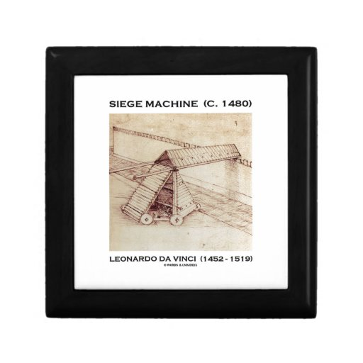 Siege Machine (Circa 1480) Leonardo da Vinci Keepsake Box