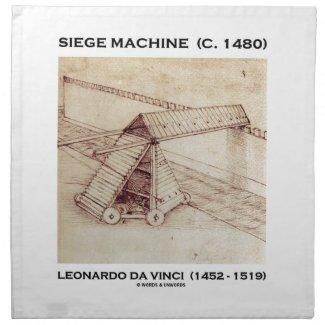Siege Machine (Circa 1480) Leonardo da Vinci Printed Napkins