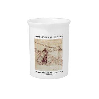 Siege Machine (Circa 1480) Leonardo da Vinci Drink Pitcher