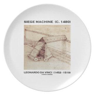 Siege Machine (Circa 1480) Leonardo da Vinci Plate