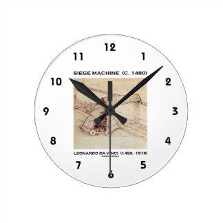 Siege Machine (Circa 1480) Leonardo da Vinci Round Clock