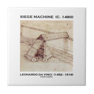 Siege Machine (Circa 1480) Leonardo da Vinci Tile