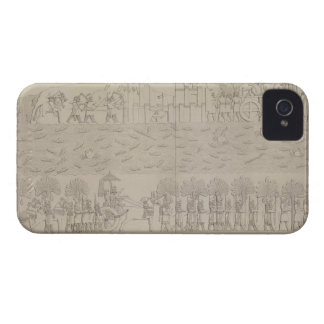 Siege of a city on the bank of a river, plate 42 f iPhone 4 case
