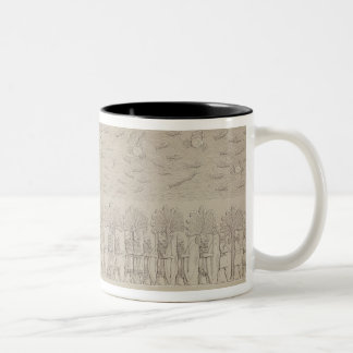 Siege of a city on the bank of a river, plate 42 f Two-Tone coffee mug