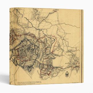 Siege of Atlanta Civil War Map July - August 1864 3 Ring Binder