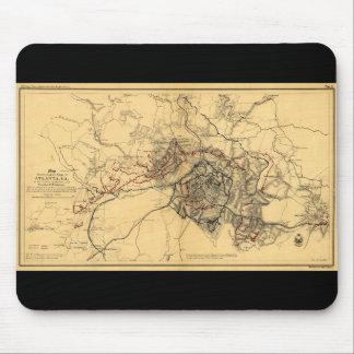 Siege of Atlanta Civil War Map July - August 1864 Mouse Pad