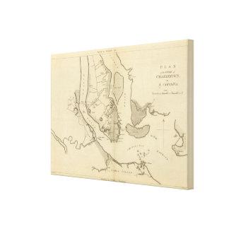 Siege of Charleston in S Carolina Canvas Print