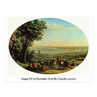 Siege Of La Rochelle Oval By Claude Lorrain Postcard