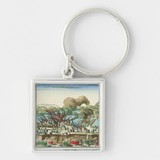 Siege of Lyon, October 1793 Silver-Colored Square Keychain
