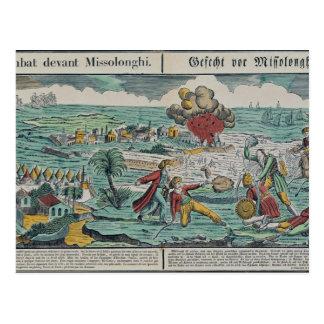 Siege of Missolonghi, 22nd April 1826 Postcard