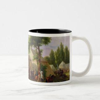 Siege of Paris by Henri IV  in 1593, 1818 Two-Tone Coffee Mug