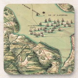 Siege of Quebec Map Drink Coaster