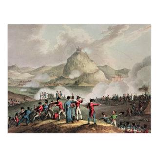 Siege of San Sebastian,  engraved by Thomas Postcard