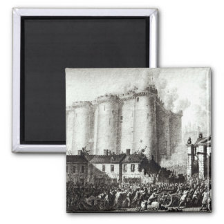 Siege of the Bastille, 14th July 1789 2 Inch Square Magnet