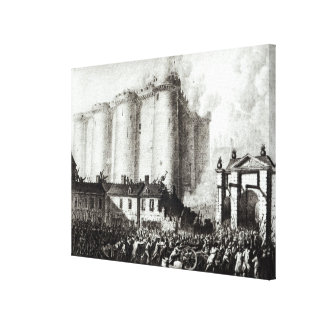 Siege of the Bastille, 14th July 1789 Canvas Print