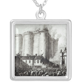 Siege of the Bastille, 14th July 1789 Square Pendant Necklace