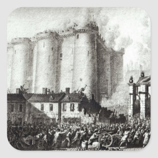 Siege of the Bastille, 14th July 1789 Square Sticker