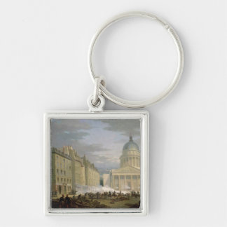 Siege of the Pantheon, 24th June 1848 Silver-Colored Square Keychain