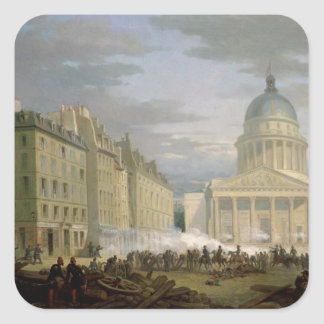 Siege of the Pantheon, 24th June 1848 Square Sticker
