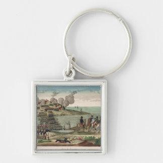 Siege of Trocadero Silver-Colored Square Keychain
