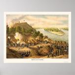 Siege of Vicksburg by Kurz and Allison 1863 Poster
