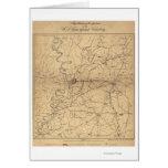 Siege of Vicksburg - Civil War Panoramic Map 2 Card