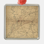Siege of Vicksburg - Civil War Panoramic Map 2 Christmas Tree Ornament