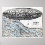 Siege of Vicksburg - Civil War Panoramic Map 2 Print
