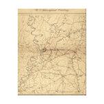 Siege of Vicksburg - Civil War Panoramic Map Canvas Print