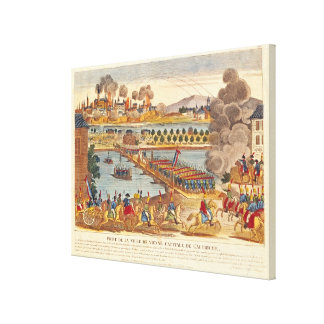 Siege of Vienna, 10th May 1809 Canvas Print