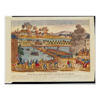 Siege of Vienna, 10th May 1809 Poster