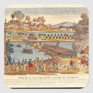 Siege of Vienna, 10th May 1809 Square Stickers