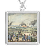 Siege of Vienna, 28th October 1848 Square Pendant Necklace