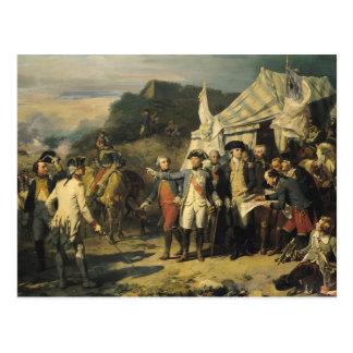 Siege of Yorktown, 17th October 1781, 1836 Postcard