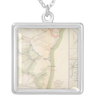 Siege of Yorktown Silver Plated Necklace