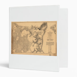 Siege of Yorktown Virginia Civil War Map (1862) 3 Ring Binder