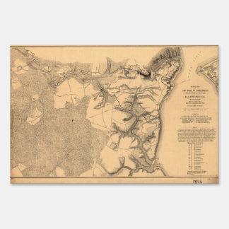 Siege of Yorktown Virginia Civil War Map (1862) Lawn Sign