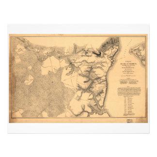 Siege of Yorktown Virginia Civil War Map (1862) Letterhead