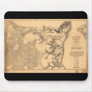 Siege of Yorktown Virginia Civil War Map (1862) Mouse Pad
