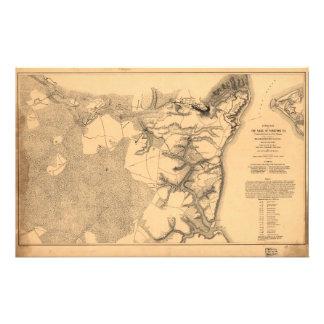 Siege of Yorktown Virginia Civil War Map (1862) Stationery
