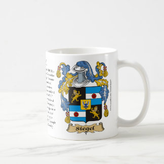 Siegel, the Origin, the Meaning and the Crest Mug