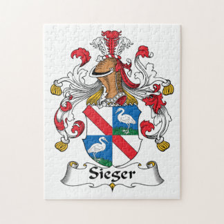 Sieger Family Crest Jigsaw Puzzle
