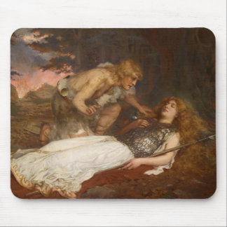 Siegfried and Brunhilde by Charles Ernest Butler Mouse Pad