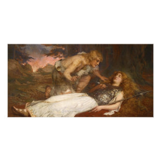 Siegfried and Brunhilde by Charles Ernest Butler Customized Photo Card