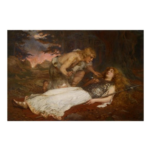Siegfried and Brunhilde by Charles Ernest Butler Print