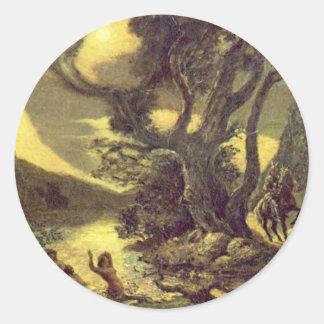 Siegfried And The Rhine Maidens Classic Round Sticker