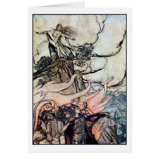 Siegfried deja Brünnhilde Tarjeta De Felicitación