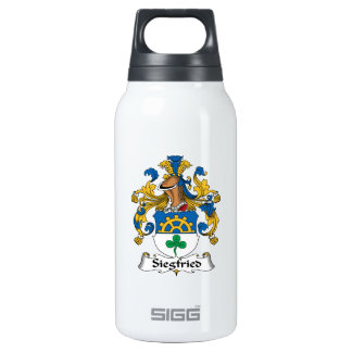 Siegfried Family Crest 10 Oz Insulated SIGG Thermos Water Bottle