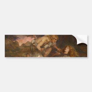 Siegfried y Brunilda del mayordomo de Charles Erne Pegatina Para Auto